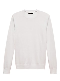 Silk-Linen Crew-Neck Sweater