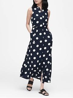 Petite Polka Dot Maxi Dress