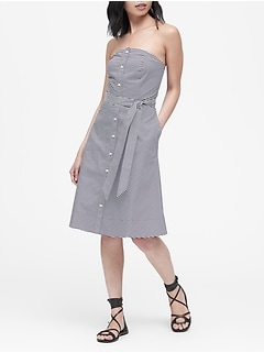 Petite Poplin Button-Down Dress