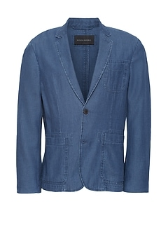 JAPAN EXCLUSIVE Slim Chambray Blazer