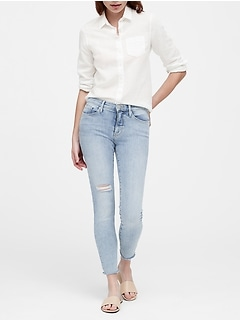 Petite Mid-Rise Skinny Ankle Jean