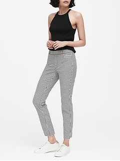 Sloan Skinny-Fit Houndstooth Ankle Pant