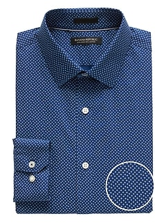 Camden Standard-Fit Non-Iron Confetti Print Dress Shirt