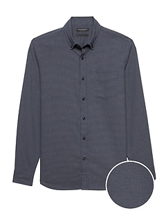 Slim-Fit Brushed Twill Shirt