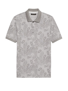 Don't-Sweat-It Print Polo