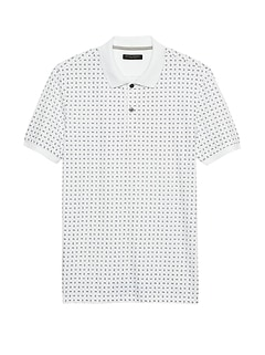 Luxury-Touch Print Polo