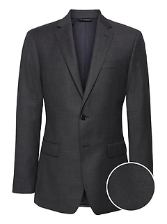 Slim Italian Wool Nailhead Suit Jacket