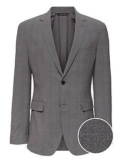 Slim Smart-Weight Performance Seersucker Suit Jacket