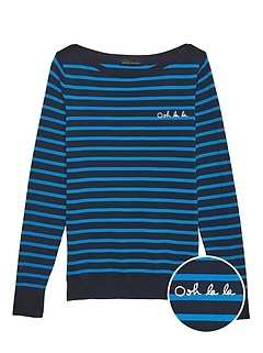 Oh La La Stripe Sweater