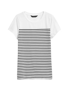 Cotton-Modal Shrunken T-Shirt