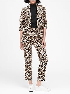 Petite Leopard Soft Blazer