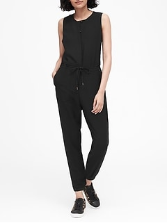 Side-Stripe Cropped Jumpsuit