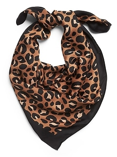 Animal Print Square Scarf