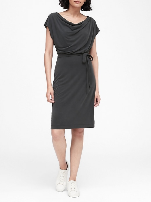 Sandwash Modal Cowl-Neck Dress