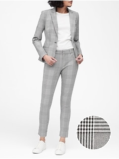 Petite Classic-Fit Plaid Washable Blazer