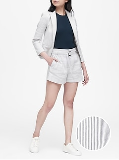 Tailored-Fit Linen-Cotton Blazer