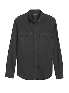 Untucked Slim-Fit Denim Shirt
