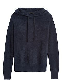 Brushed Cashmere Sweater Hoodie