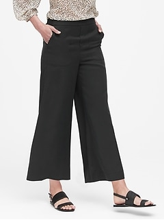 Wide-Leg Cropped TENCEL™ Pant