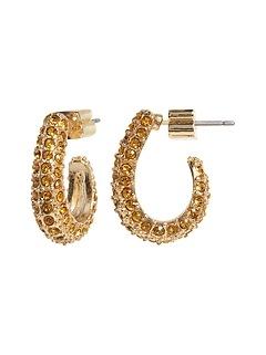 Pavé J-Hoop Earrings