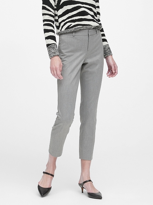 Avery Straight-Fit Flannel Ankle Pant