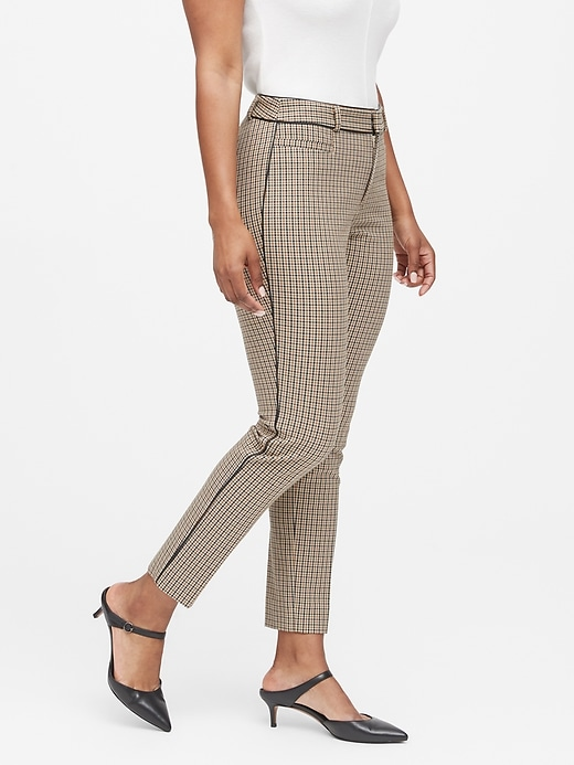 Curvy Sloan Skinny-Fit Washable Pant with Piping