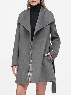 Petite Double-Faced Wrap Coat