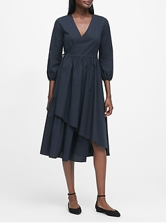JAPAN EXCLUSIVE Poplin Wrap Dress