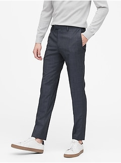 Slim Italian Wool Suit Pant