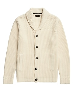 Heritage Shawl-Collar Cardigan Sweater