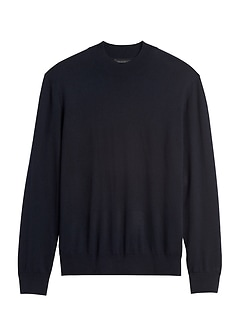 Silk Cotton Cashmere Mock-Neck Sweater