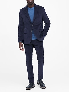 Slim Italian Corduroy Suit Jacket