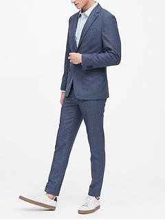 Slim Italian Flannel Suit Jacket
