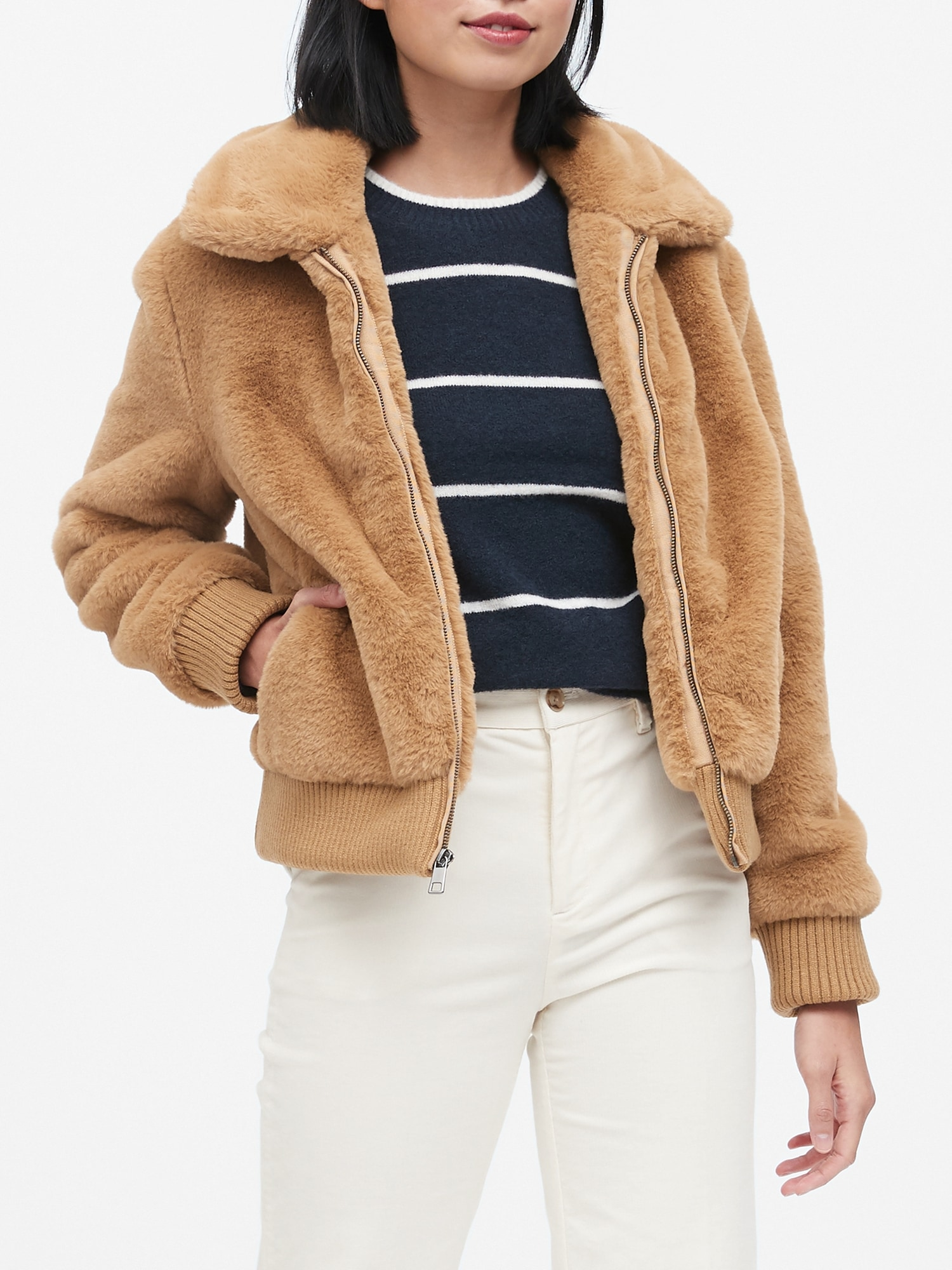 utterly stylish various styles special section Faux Fur Bomber