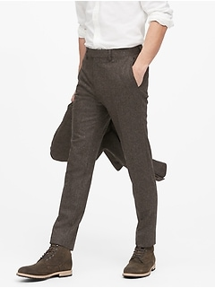 Slim Tapered Donegal Suit Pant