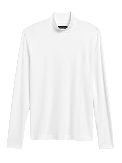 Luxury Touch Mock Neck T Shirt by Banana Repbulic