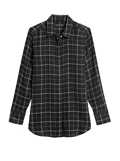 Parker Tunic-Fit Flannel Shirt