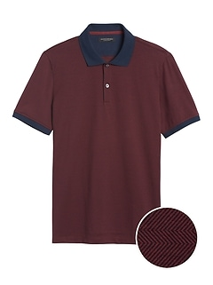 Luxury-Touch Herringbone Polo
