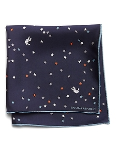 Astronaut Silk Pocket Square
