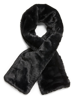 Faux Fur Pull-Through Scarf