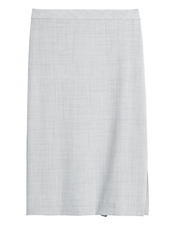 Washable Wool-Blend Pencil Skirt