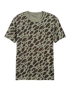 Leopard Camo Graphic T-Shirt