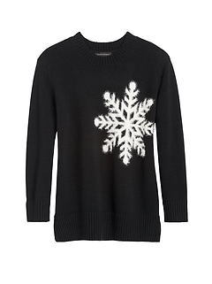 JAPAN EXCLUSIVE Oversized Snowflake Sweater Tunic