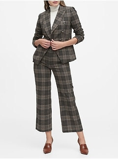 Petite Double-Breasted Flannel Blazer