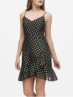 Metallic Dot Mini Dress