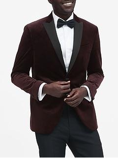 Slim Italian Velvet Tuxedo Jacket