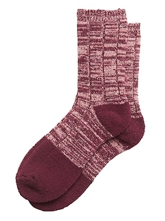 Sparkle Cozy Crew Sock