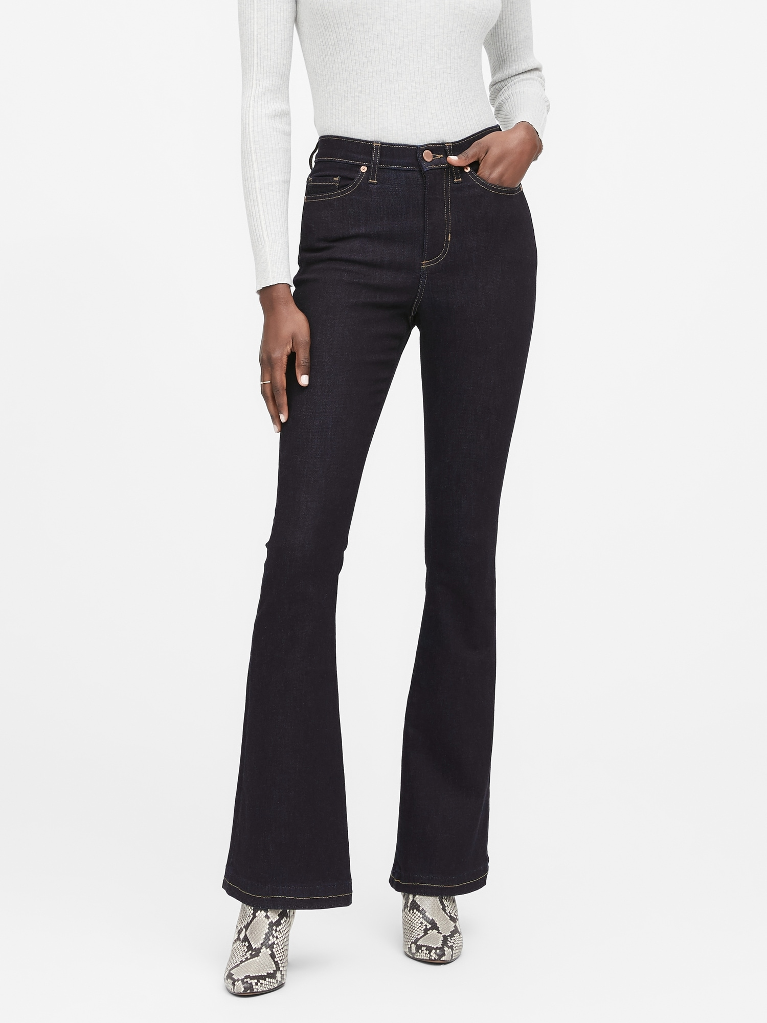 Banana Republic High-Rise Flare Jean