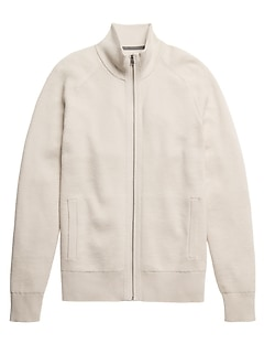 SUPIMA® Cotton Ribbed Sweater Jacket
