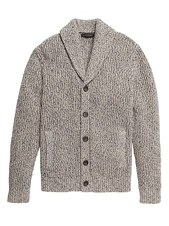 Shawl-Collar Cardigan Sweater